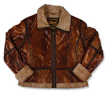 Load image into Gallery viewer, REED Women's Snake Leather Jacket