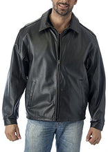 Load image into Gallery viewer, REED Men's Tall Casual Leather Jacket Union Made in USA