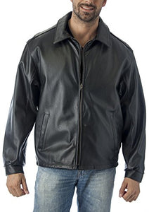 REED Men's Tall Casual Leather Jacket Union Made in USA