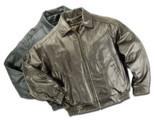 Load image into Gallery viewer, REED Men's All American Bomber Leather Jacket Union Made in USA
