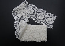 Load image into Gallery viewer, eZthings Cotton Lace Embroidery Wedding Fabric Trim for DIY Decorating, Floral Designing and Crafts