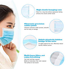 Load image into Gallery viewer, 10PCS Disposable Face Masks, 3-Ply Earloop Mouth Mask for Dust and Personal Health, Respirator Masks Thicker Breathable and Comfortable Safety Face Masks for Home Office Use