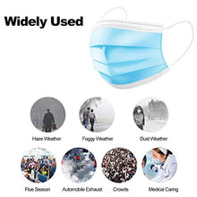 Cargar imagen en el visor de la galería, 20pcs Disposable Face Masks, 3-Ply Face Masks Protective for Smoke, Dust, Pollen, etc,
