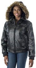 Load image into Gallery viewer, REED Women's Detroit Streets Leather Bomber Coat with Zip Out Hoody