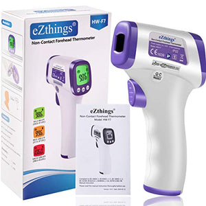 eZthings Thermometer Heavy Duty Infrared Forehead Non-Contact for Medical Offices, Hospitals, Physicians