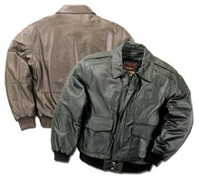 Load image into Gallery viewer, REED Men's Premium Leather Aviator Bomber Jacket