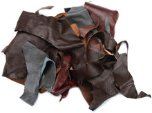 Load image into Gallery viewer, 2-Lb Assorted Leather Scraps. Great for Crafts