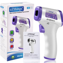 Load image into Gallery viewer, eZthings Heavy Duty Professional LCD Display Non-Contact Infrared Forehead Thermometer for Adults and Children (Multi, LCD Buttons)