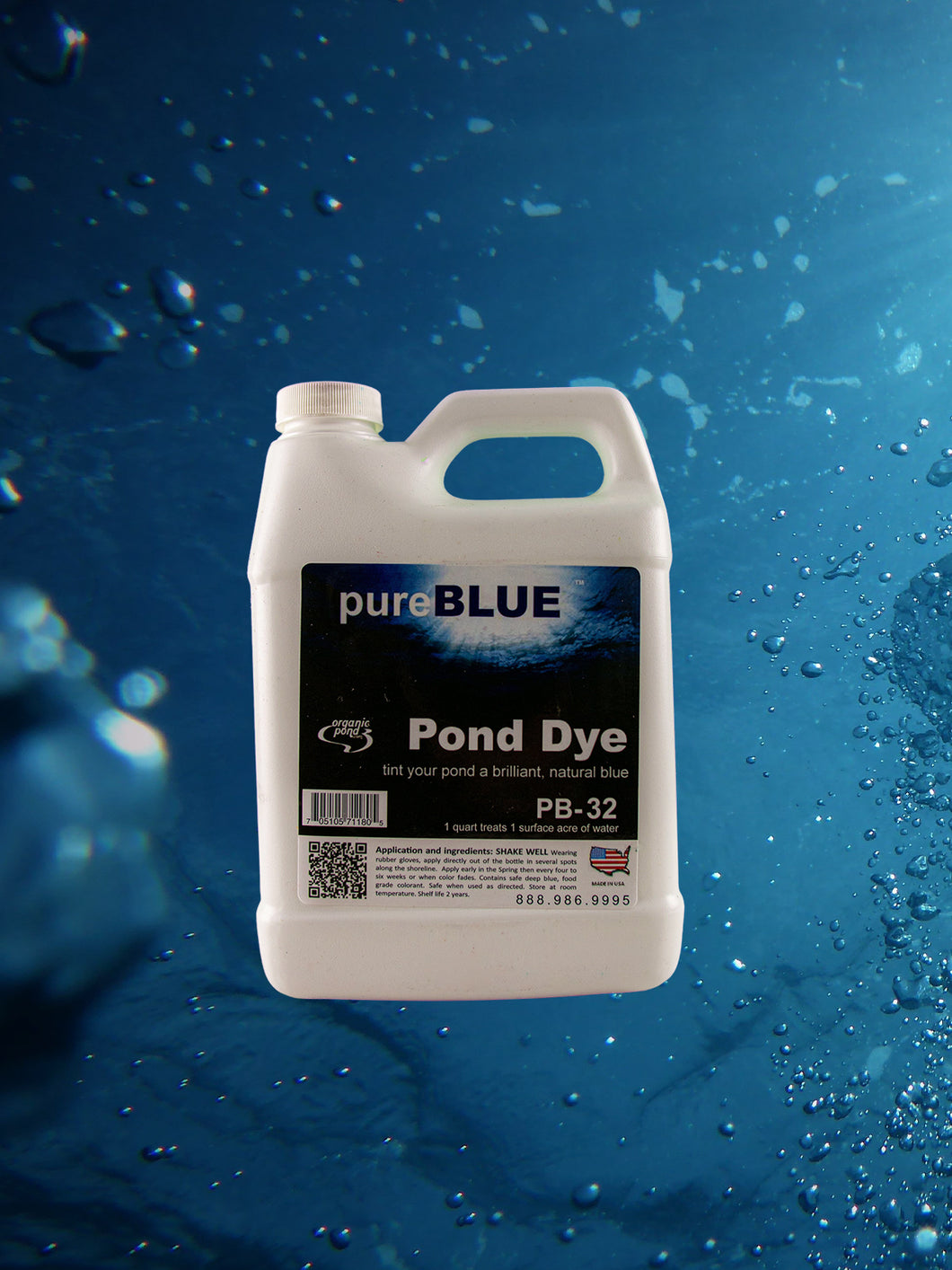 pureBLUE™ Pond Dye Super-Concentrated Quarts