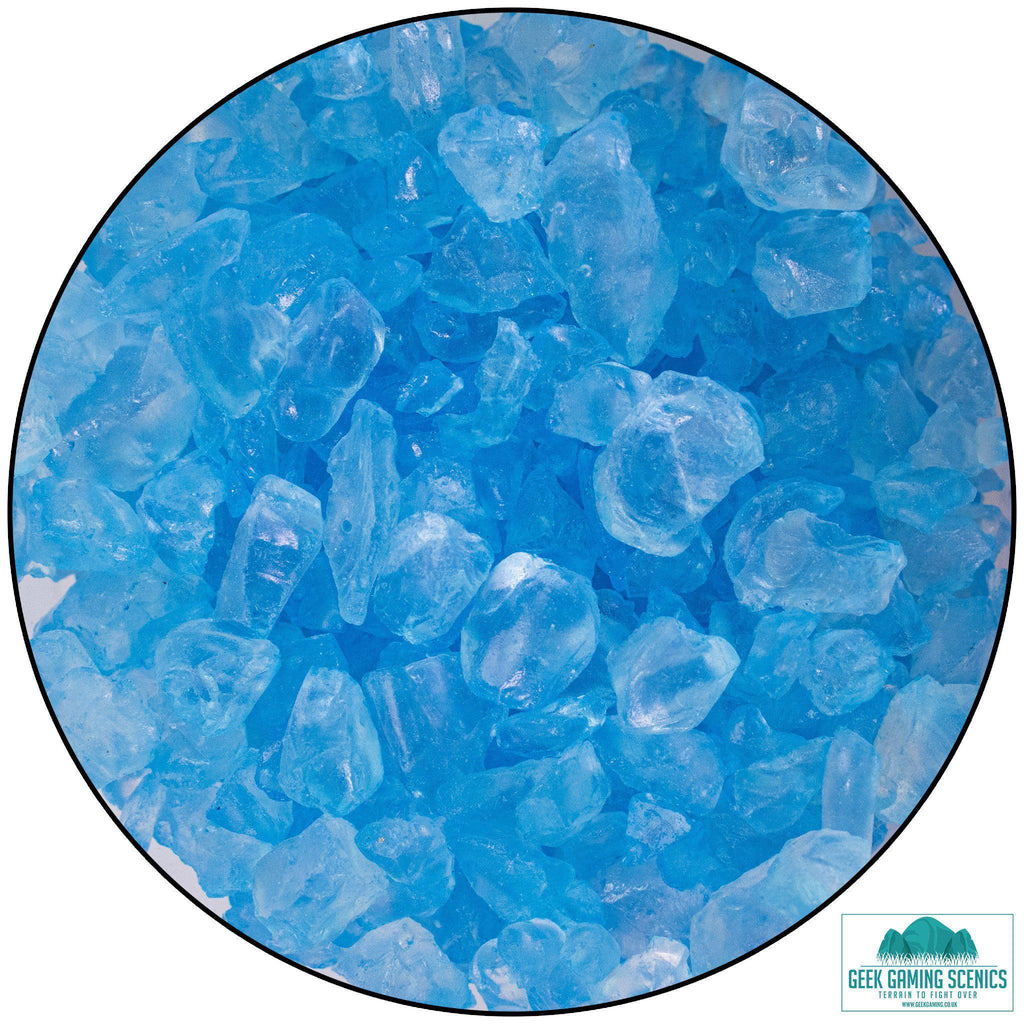 Glass Nuggets 2-4 mm blue 400 g
