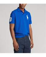 Polo Big Pony Custom Slim Fit Mesh In Royal Blue