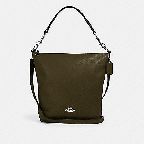 Coach Abby Shoulder Bag In Leather Cargo Green