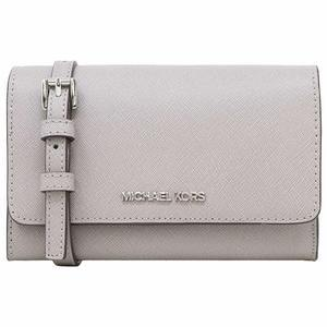 Michael Kors Jet Set Travel Phone Crossbody In Grey