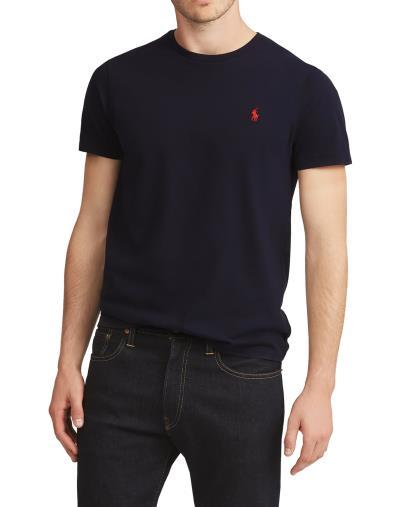 Polo Crewneck T Shirt In Black