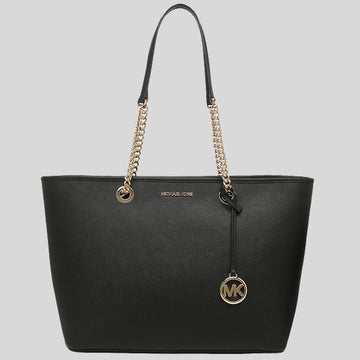 Michael Kors Shania Large EW Chain Tote In Black