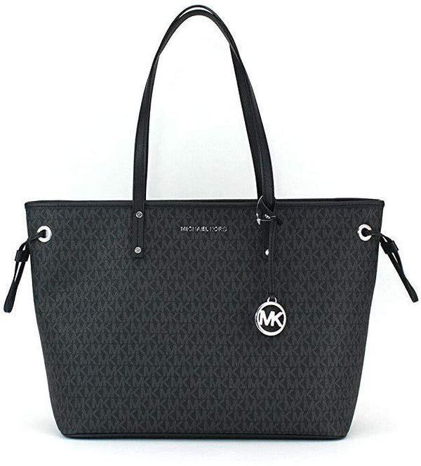 Michael Kors Large Drawstring Tote Monogram Black