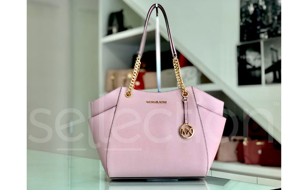Michael Kors Jet Set Large Chain Shoulder Bag in Leather Blossom ?id=16138074161229