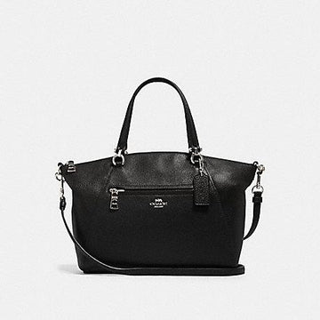 Coach Prairie In Leather Black Silver Hardware