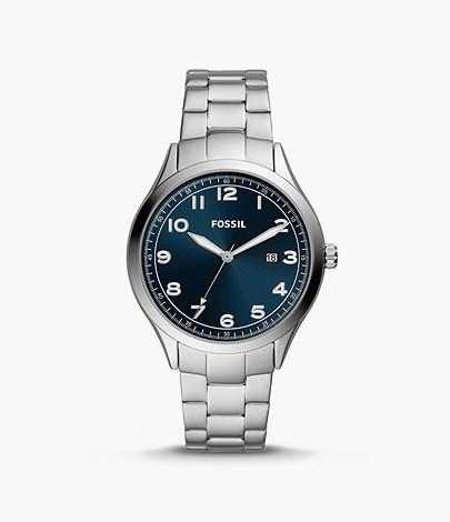 Fossil Women Wylie Three-Hand Date Stainless Steel Watch BQ2513