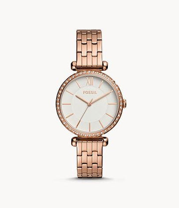 Fossil Women Tillie Three-Hand Rose Gold-Tone Stainless Steel Watch BQ3497