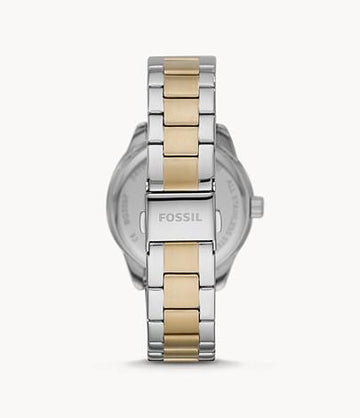 Fossil Women Dayle Three-Hand Date Two-Tone Stainless Steel Watch BQ3597