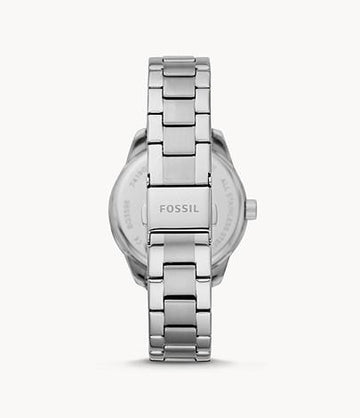 Fossil Women Dayle Three-Hand Date Stainless Steel Watch BQ3598