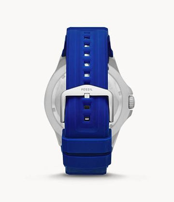 Fossil Men FB-02 Three-Hand Date Navy Silicone Watch FS5700
