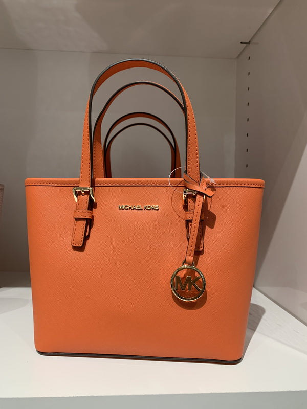 Michael Kors Jet Set XS Carryall Tote In Mandarin