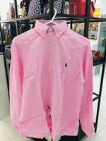 Classic Fit Linen Shirt In Royal Pink