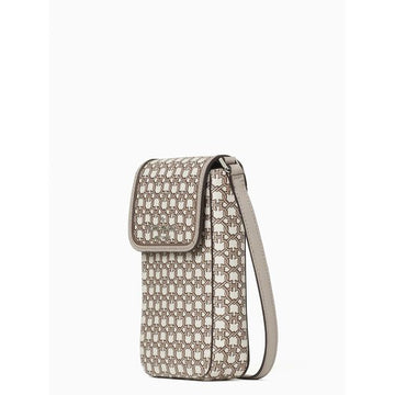 Kate Spade Link NS Flap Phone Crossbody In White Multi
