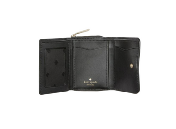 Kate Spade Leila Small Trifold Continental Wallet In Black