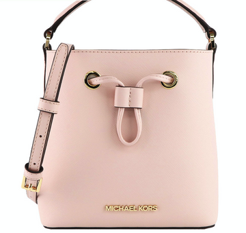 Michael Kors Suri Small Bucket Crossbody In Powder Blush