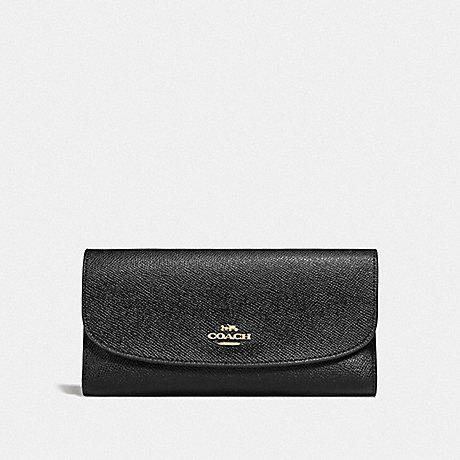 Coach Checkbook Wallet In Black