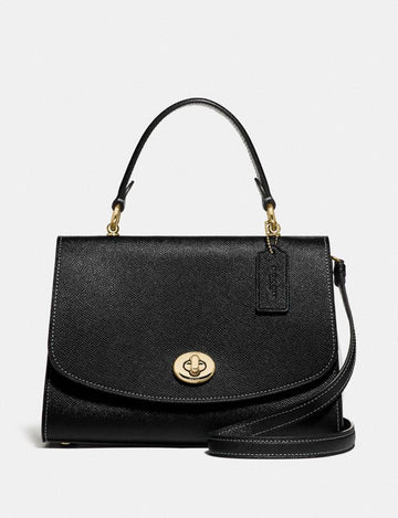 Coach Tilly Top Handle Satchel In Black