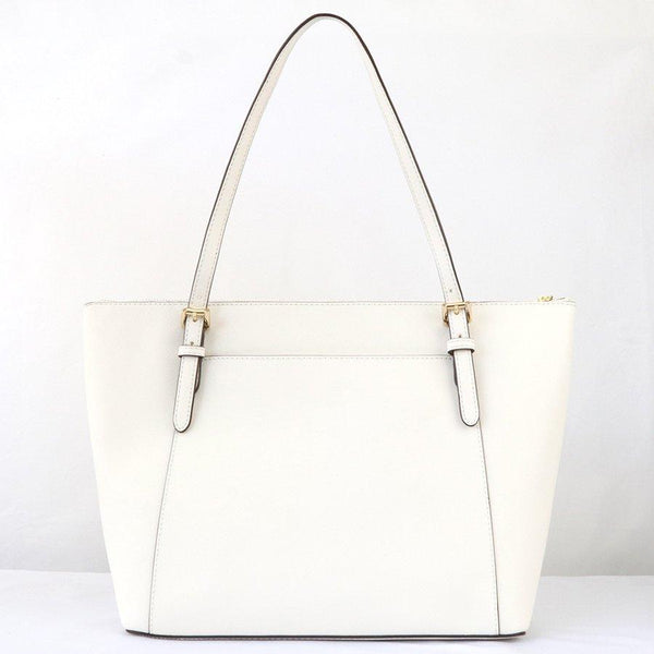 Michael Kors Ciara Large Tote In Optic White