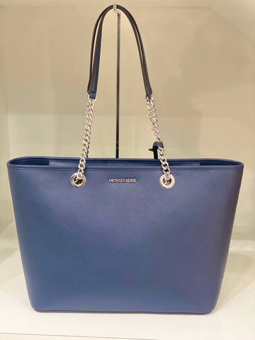 Michael Kors Shania Large EW Chain Tote In Navy