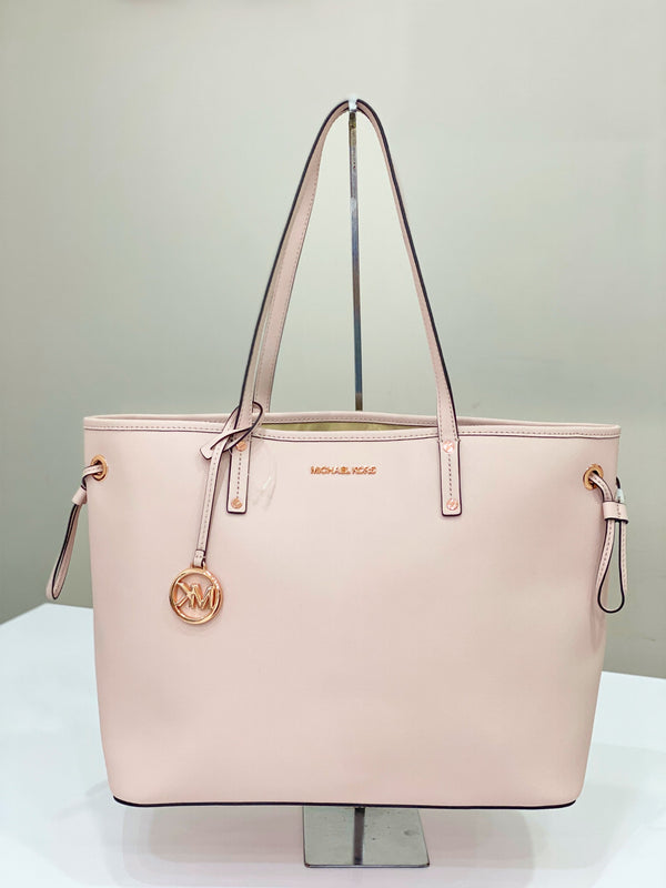 Michael Kors Jet Set Travel Drawstring Tote In Powder Blush