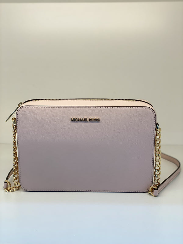 Michael Kors EW Crossbody In Leather Pale Pink
