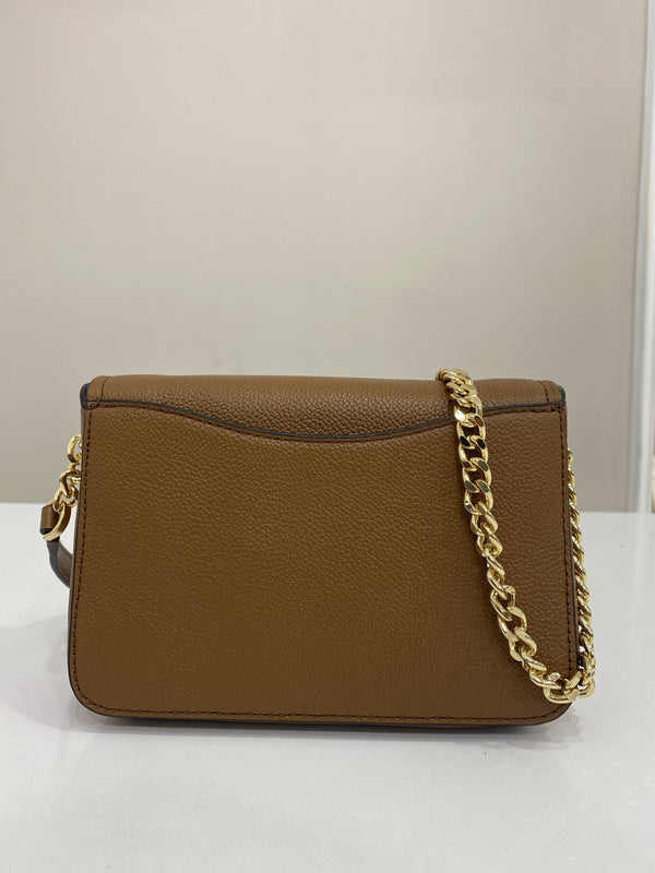 Michael Kors Small Wanda Shoulder Flap Bag In Luggage