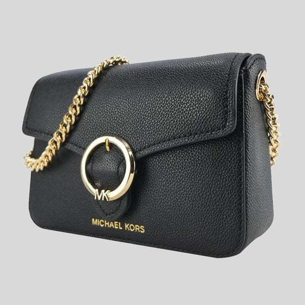 Michael Kors Small Wanda Shoulder Flap Bag In Black
