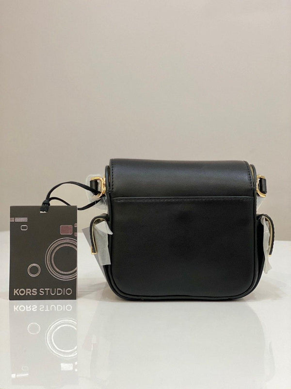 Michael Kors Scout Bag Medium Leather In Black