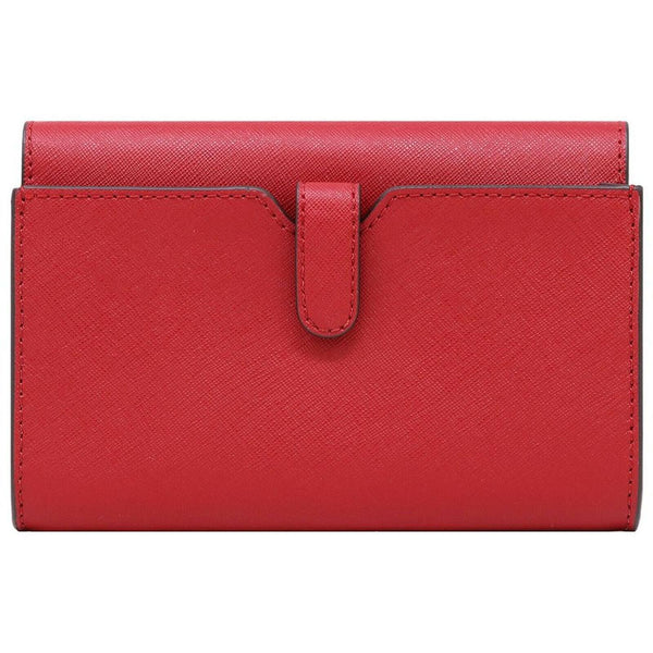 Michael Kors Jet Set Travel Phone Crossbody In Flame Red