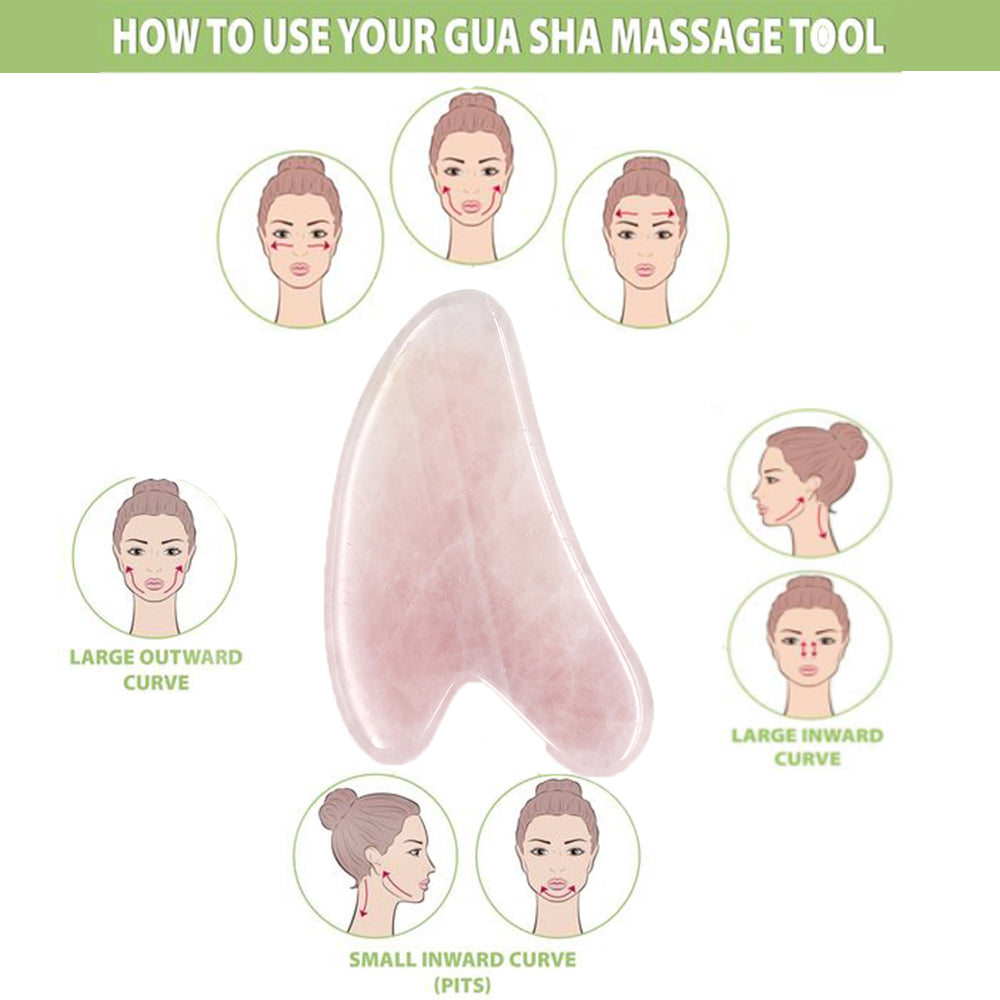 Set of 2 Pieces Jade Gua Sha tools | Massage Therapy | Facial Lifting Firming Roller