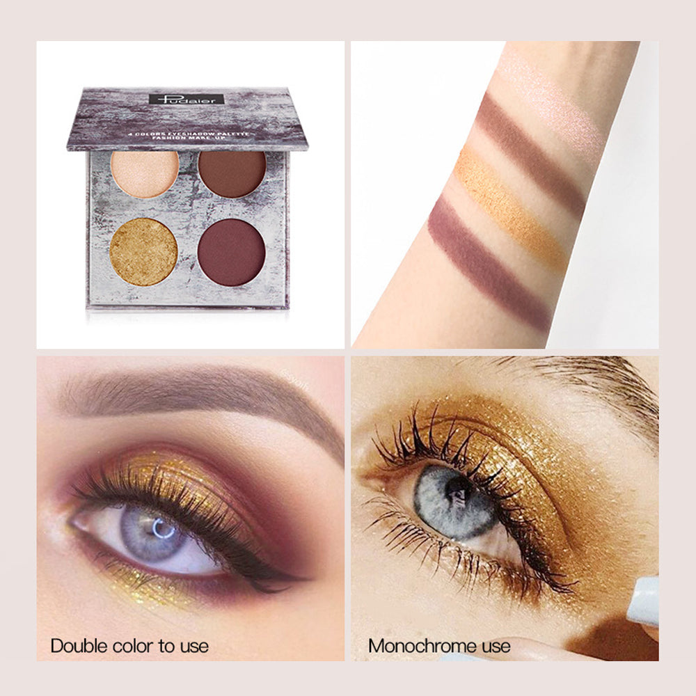 Landscape Painting 4 Color Matte Pearlescent Waterproof Eye Shadow