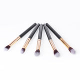 10Pcs Black Makeup Brushes Set