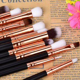 12Pcs Black Makeup Brushes Set