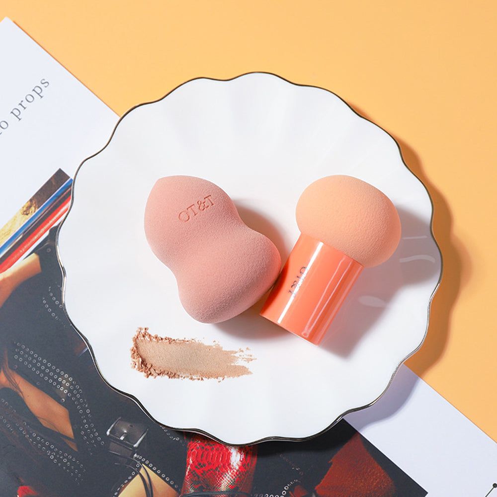 2Pcs Professional Makeup Sponge Set