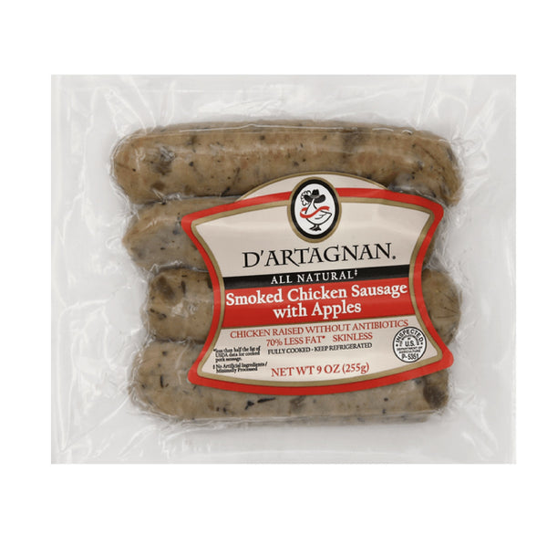 D'artagnan Smoked Chicken Sausage with Apples (Tütsülenmiş Tavuk Sosisi) 9oz