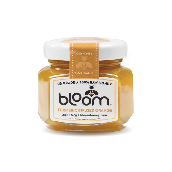 Bloom Raw Honey Turmeric Infused Orange 57g