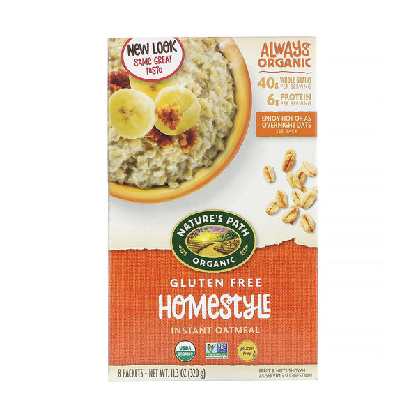 Nature's Path Instant Oatmeal Homestyle Gluten Free 320g